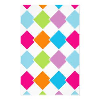 Färgrikt belägga med tegel bakgrund brevpapper
