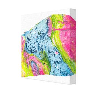 Färgrikt berg för abstrakt vattenfärgkonst canvastryck
