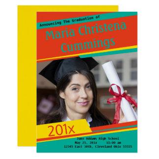 Färgrikt blockerande doktorand- meddelande 12,7 x 17,8 cm inbjudningskort