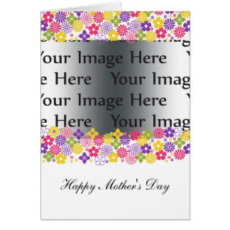 färgrikt blom- mors dagfotokort hälsningskort