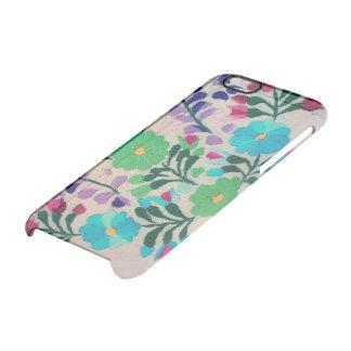 Färgrikt blommamönster clear iPhone 6/6S skal