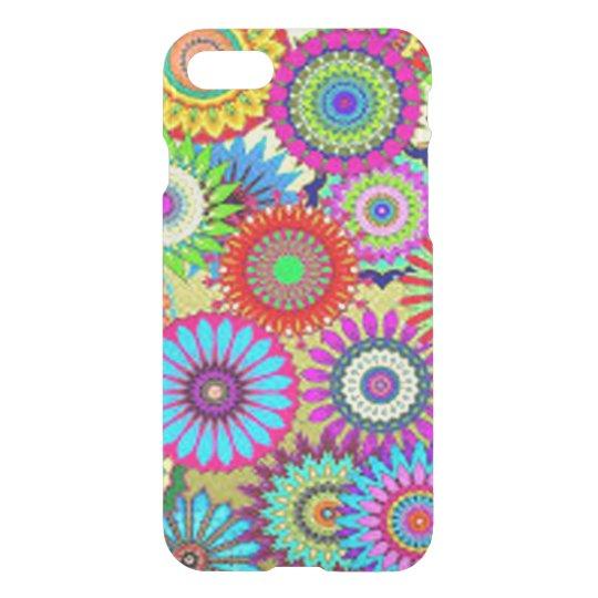Färgrikt cirkla blommor iPhone 7 skal