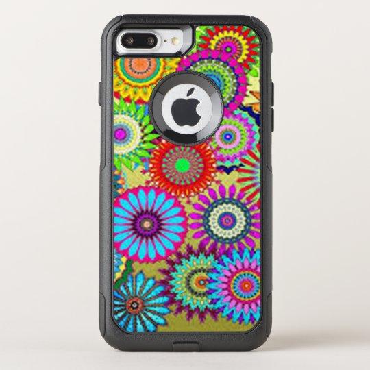 Färgrikt cirkla blommor OtterBox commuter iPhone 7 plus skal