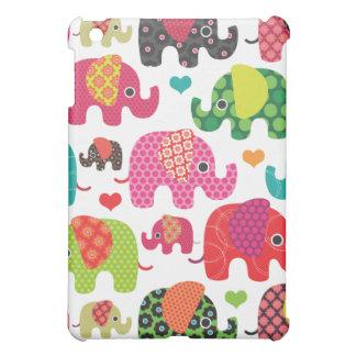 Färgrikt fodral för ipad för elefantungemönster iPad mini skal