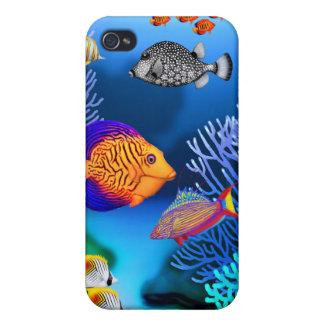 Färgrikt fodral för Speck för korallrevfisk iPhone 4 Skydd