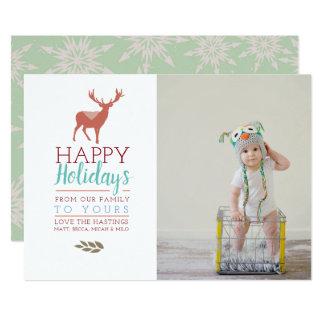 Färgrikt för fotohelgdag för helgdagar   kort 12,7 x 17,8 cm inbjudningskort