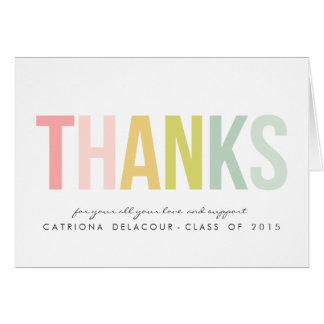 Färgrikt för studententack för typografi | kort