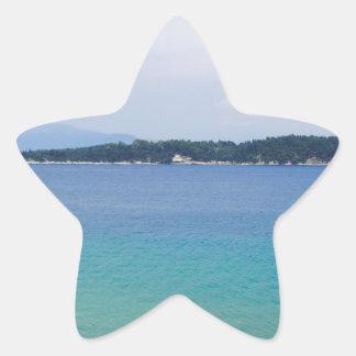 färgrikt hav stjärnformat klistermärke