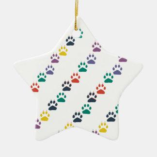 Färgrikt husdjur för tassar & för tassregnbåge julgransprydnad keramik