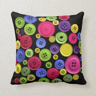Färgrikt knäppas Pillow dämpar Kudde