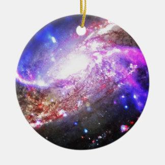 Färgrikt kosmos julgransprydnad keramik
