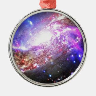 Färgrikt kosmos julgransprydnad metall