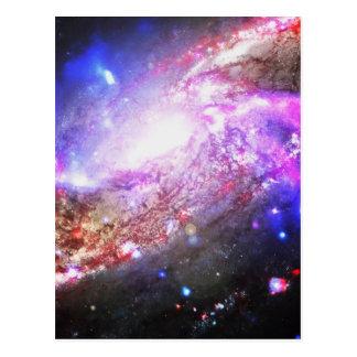 Färgrikt kosmos vykort