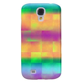 Färgrikt kvadrerar abstrakt konst galaxy s4 fodral