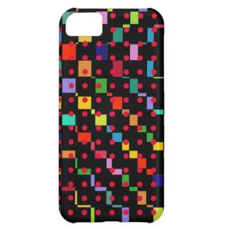 färgrikt kvadrerar, och rött pricker iPhone 5C fodral