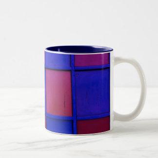 färgrikt kvadrerar Två-Tonad mugg