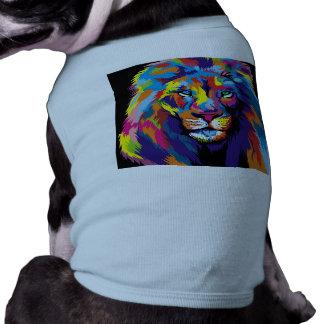 Färgrikt lejont hundtröja