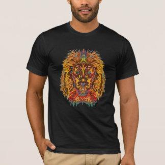 Färgrikt lejont tshirts