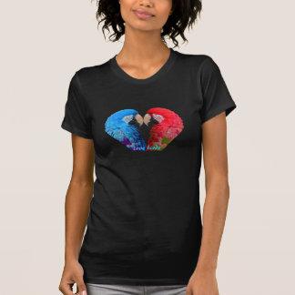 Färgrikt, macaw eller papegoja för love birds t shirt