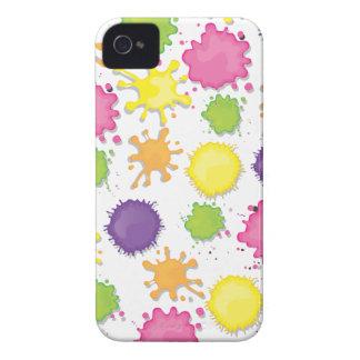 Färgrikt måla splotches, droppandear och iPhone 4 fodral