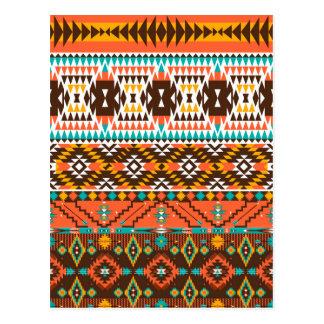 färgrikt målat mönster vykort