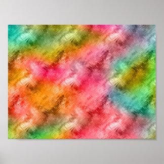 Färgrikt mönster för Crystal exponeringsglas Poster