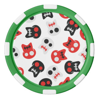 Färgrikt mönster för komisk skalle spel chips