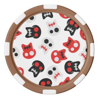 Färgrikt mönster för komisk skalle spel tokens