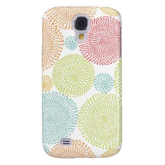 Färgrikt nyckfullt Pom för regnbågeblom klotter fl Galaxy S4 Fodral