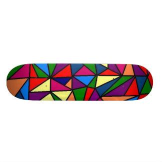 Färgrikt Old School Skateboard Bräda 18 Cm