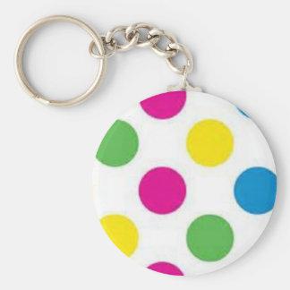 Färgrikt pricker rund nyckelring
