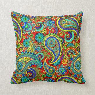 Färgrikt Retro Paisley mönster Prydnadskuddar