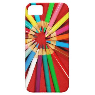 Färgrikt rita fodral för kritortrycktelefonen iPhone 5 hud