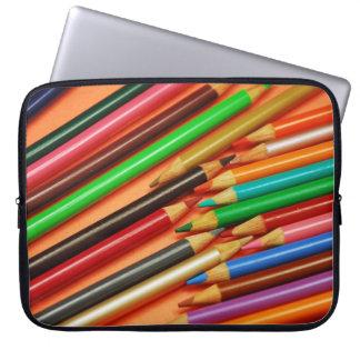 Färgrikt rita kritorlaptop sleeve