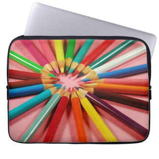 Färgrikt rita kritortrycklaptop sleeve