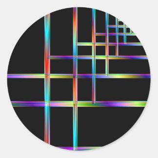 Färgrikt sätter inom parantes runt klistermärke