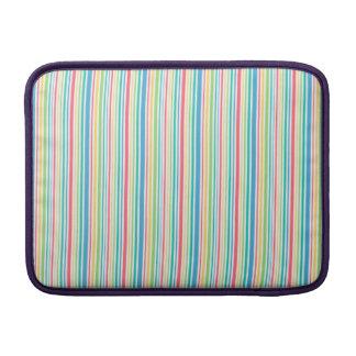 Färgrikt seamless randigt fodrar mönster MacBook air sleeve