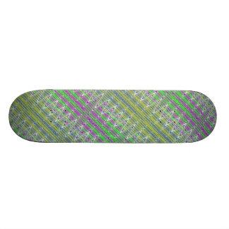 Färgrikt sicksackmönster skateboard bräda 21,5 cm