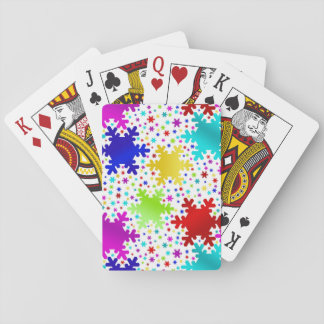 Färgrikt skina Snowflakemönster Spelkort