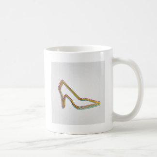 Färgrikt sko kaffemugg
