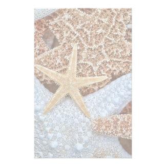 Färgrikt sortiment av sjöstjärnan brevpapper