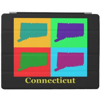 Färgrikt statligt av kartan för Connecticut iPad Skydd