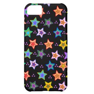 Färgrikt stjärnamönster iPhone 5C fodral