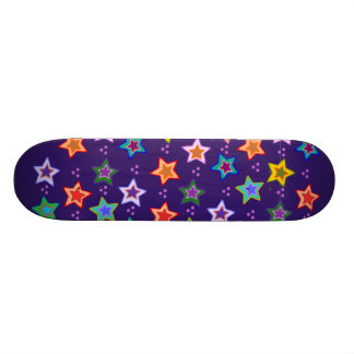 Färgrikt stjärnamönster skateboard bräda 19,5 cm