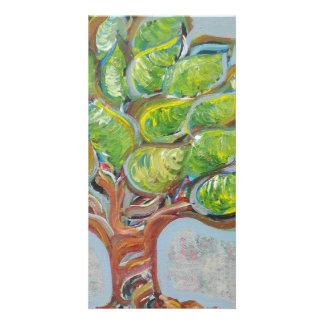 Färgrikt träd fotokort