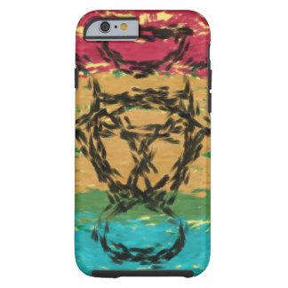 Färgrikt trevligt mönster tough iPhone 6 skal
