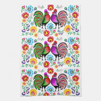 Färgrikt tuppBoho mönster Kökshandduk