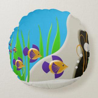 Färgrikt under dekorativ kudde för havsfisktema