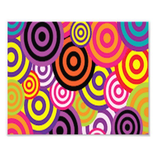 Färgrikt uppsätta som mål cirklar fototryck