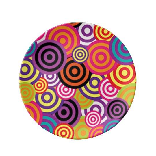 Färgrikt uppsätta som mål cirklar porslinstallrik